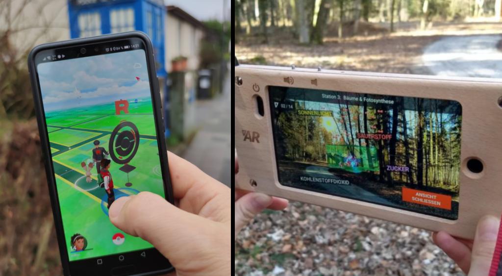 Screenshots Pokemon Go und Bürgerwald AR