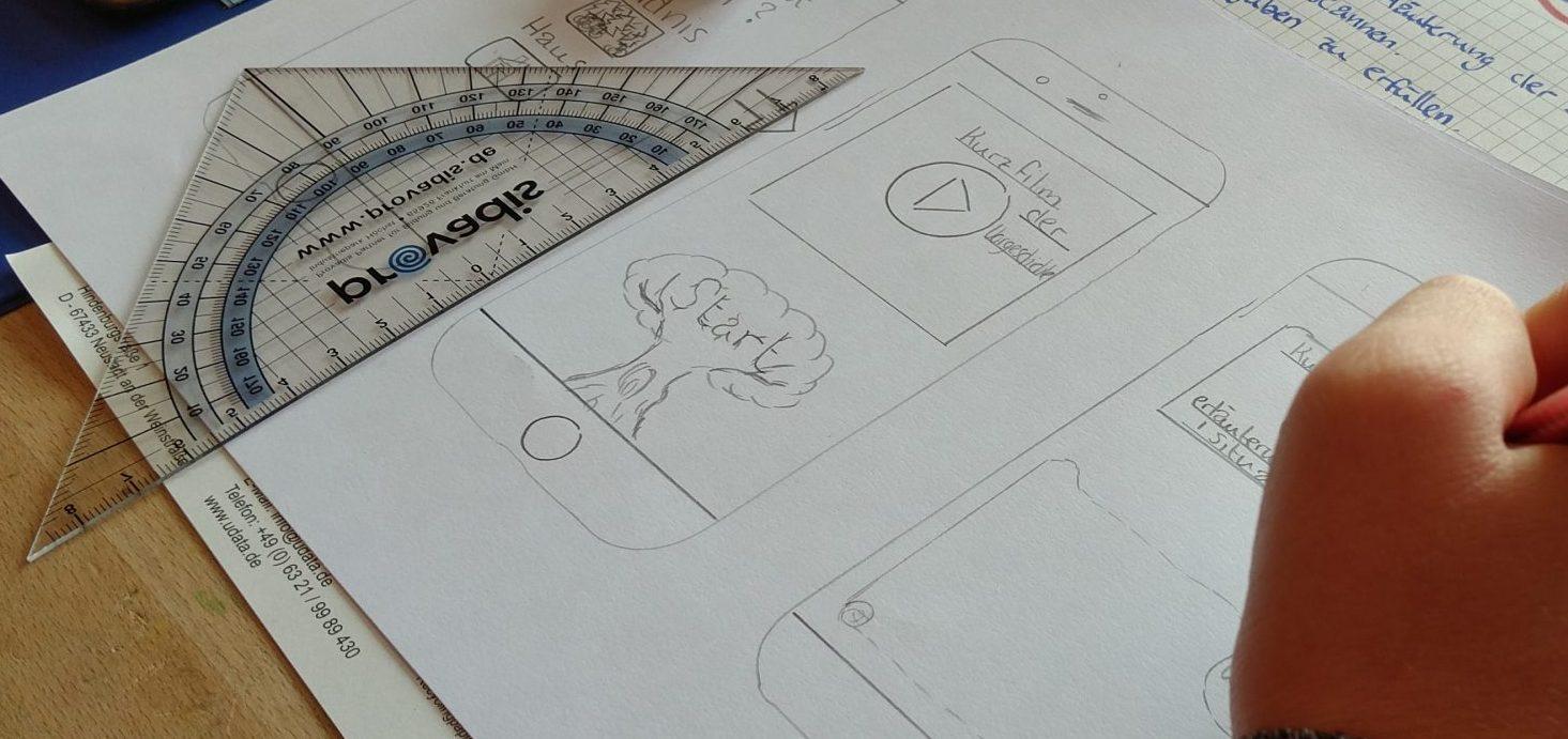 Mockup einer App